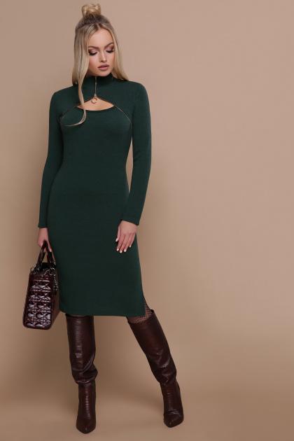 изумрудное теплое платье. платье Альбина д/р. Цвет: изумруд