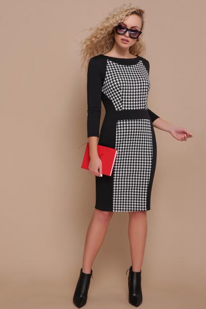черное платье с рукавом три четверти. платье Шанель д/р. Цвет: черный лапка