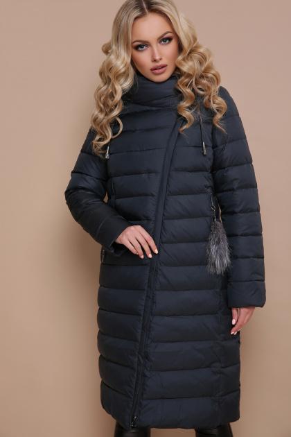 длинная серая куртка. Куртка 18-32. Цвет: бутылочный