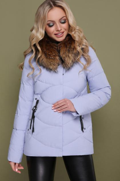 короткая куртка цвета электрик. Куртка 18-129. Цвет: сирень