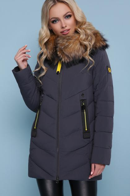 короткая куртка цвета хаки. Куртка 18-183. Цвет: серый
