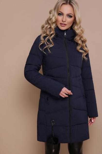 модная изумрудная куртка. Куртка 18-79. Цвет: синий