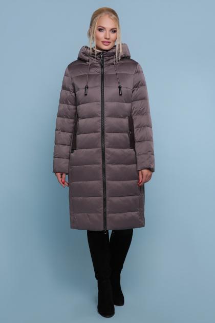 длинная куртка больших размеров. Куртка 18-197-Б. Цвет: серо-зелёный