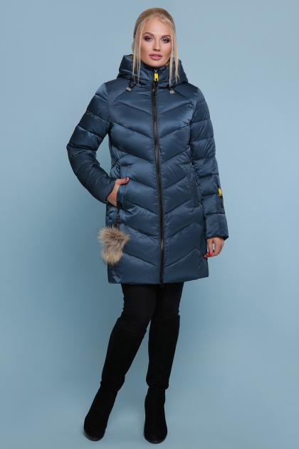блестящая куртка цвета хаки. Куртка 18-71. Цвет: волна