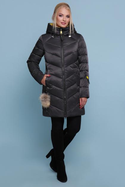 блестящая куртка цвета хаки. Куртка 18-71. Цвет: черный