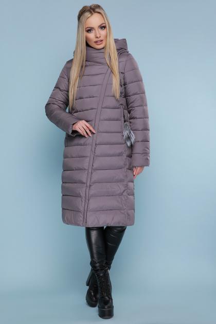длинная серая куртка. Куртка 18-32. Цвет: серый