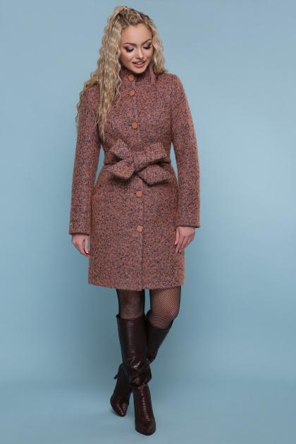 розовое пальто на пуговицах. пальто П-332 з. Цвет: 1208-розовый
