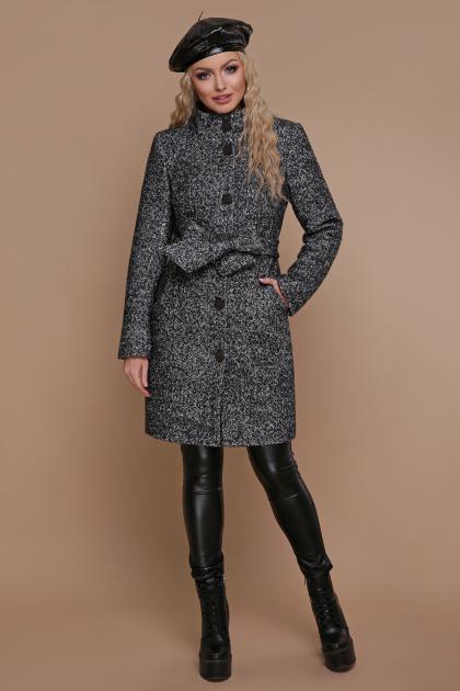 розовое пальто на пуговицах. пальто П-332 з. Цвет: 1202-серый