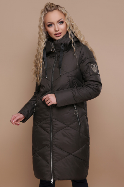 изумрудная зимняя куртка. Куртка 899. Цвет: хаки