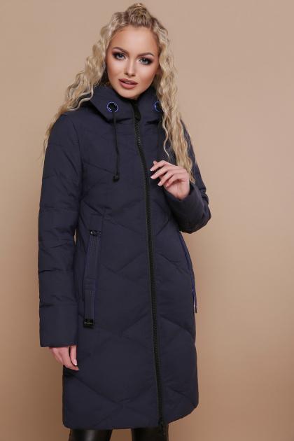 изумрудная куртка с наушниками. Куртка 819. Цвет: синий