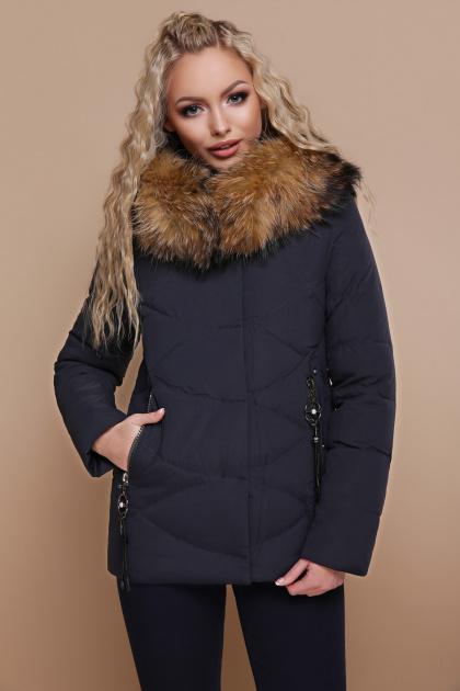 укороченная синяя куртка. Куртка 18-129. Цвет: синий