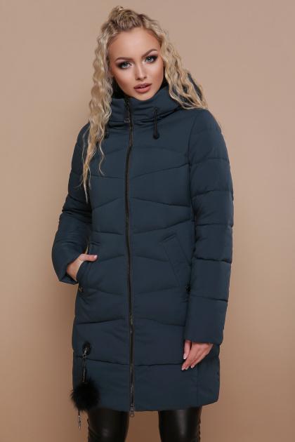 модная изумрудная куртка. Куртка 18-79. Цвет: изумруд