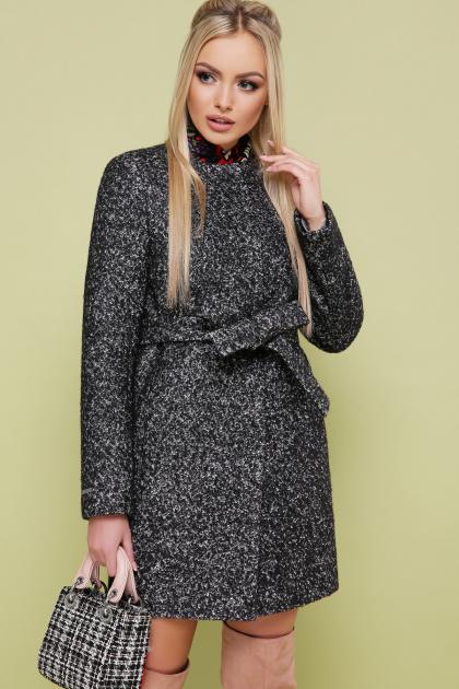 женское пальто цвета электрик. пальто П-337. Цвет: 1202-черный