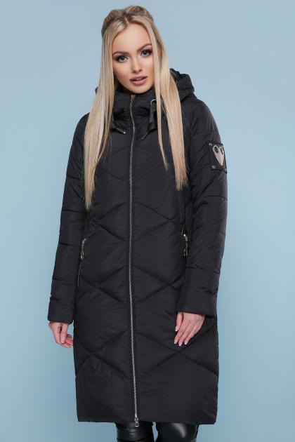 изумрудная зимняя куртка. Куртка 899. Цвет: черный