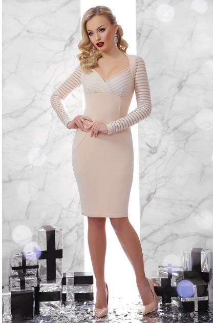 . платье Патриция д/р. Цвет: св. бежевый