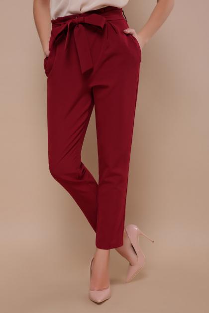 брюки 7/8 цвета хаки. брюки Челси. Цвет: бордо