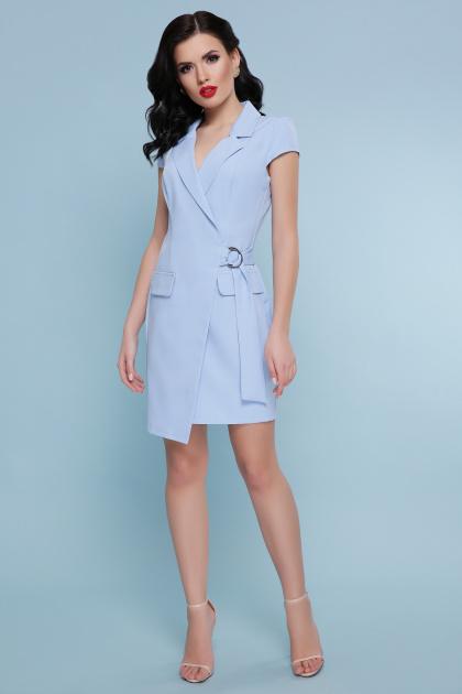 голубое платье с коротким рукавом. платье Полина к/р. Цвет: голубой