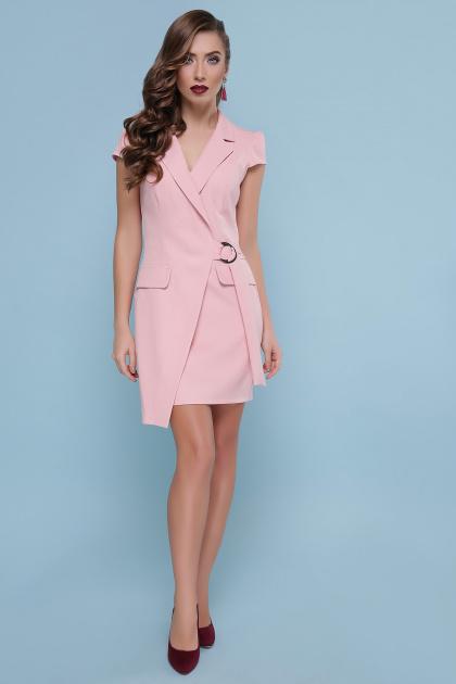 голубое платье с коротким рукавом. платье Полина к/р. Цвет: персик