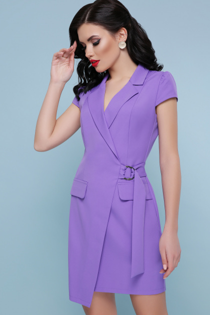 сиреневое платье с коротким рукавом. платье Полина к/р. Цвет: сирень