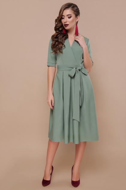 платье цвета хаки с коротким рукавом. платье Ангелина к/р. Цвет: св.хаки