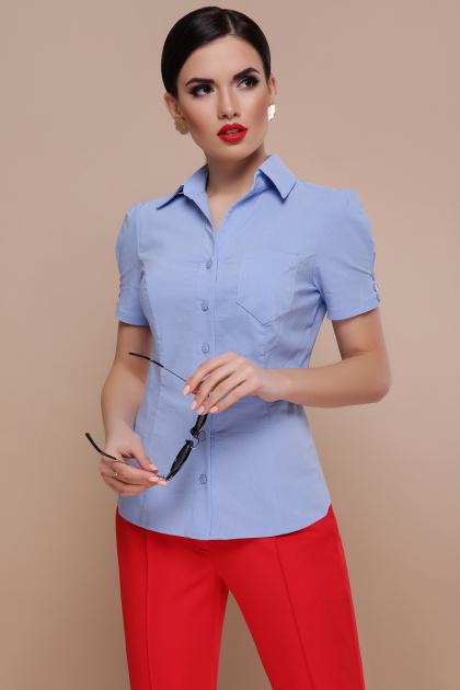 . блуза Эльза к/р. Цвет: голубой