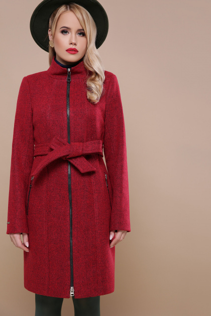 . пальто П-343. Цвет: бордо