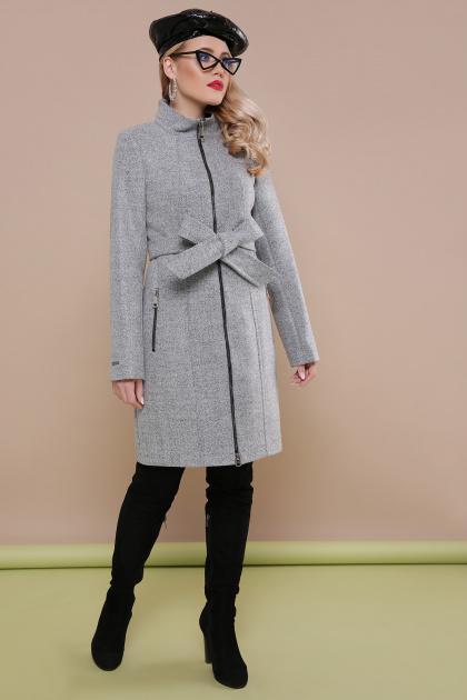 . пальто П-343. Цвет: серый