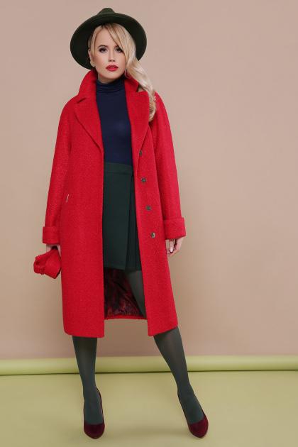 . пальто П-303-100. Цвет: 1201-красный