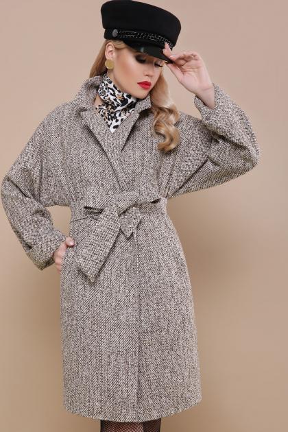 шерстяное пальто в клетку. пальто П-300-90. Цвет: 1108-люрекс