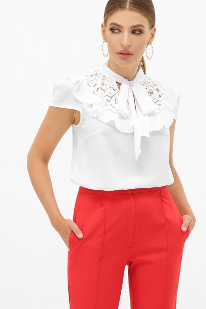 черная блузка с бантом. блуза Федерика к/р. Цвет: белый
