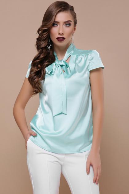 мятная блузка с бантом. блуза Филипа к/р. Цвет: мята
