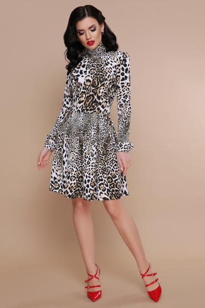 короткое леопардовое платье. Леопард платье Эльнара д/р. Цвет: принт