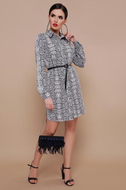 платье-рубашка со змеиным принтом. Питон платье-рубашка Аврора П д/р. Цвет: принт