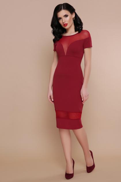 . платье Владана 2 к/р. Цвет: бордо