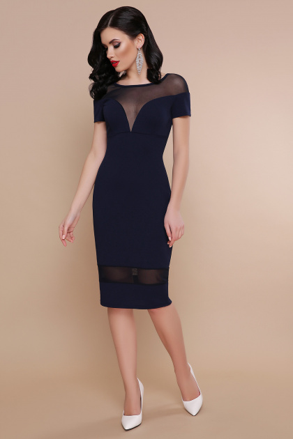 . платье Владана 2 к/р. Цвет: синий