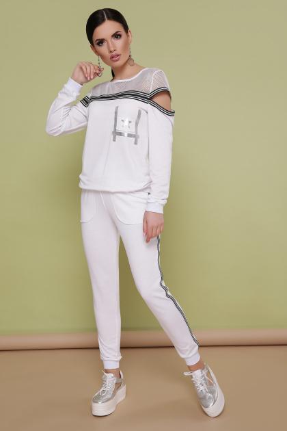 белый спортивный костюм. Костюм Сильвер. Цвет: белый