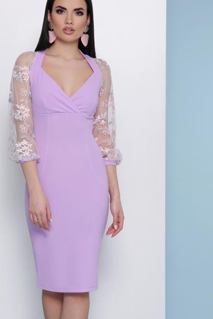 бордовое платье с вышивкой. платье Флоренция В д/р. Цвет: лавандовый