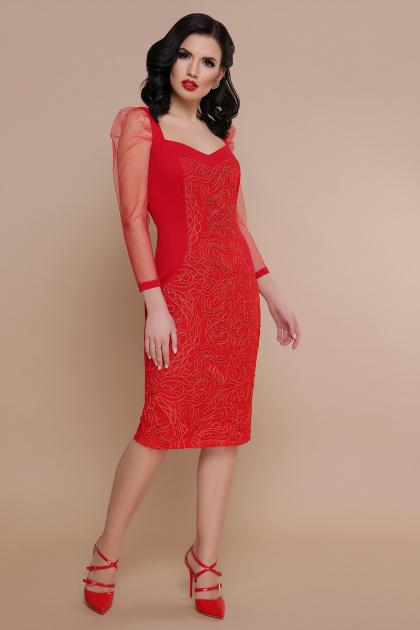 вечернее красное платье. платье Памела 2 д/р. Цвет: красный
