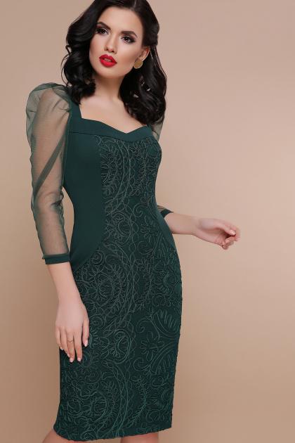 вечернее красное платье. платье Памела 2 д/р. Цвет: изумруд