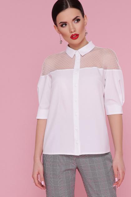 . блуза Рокси 2 д/р. Цвет: белый