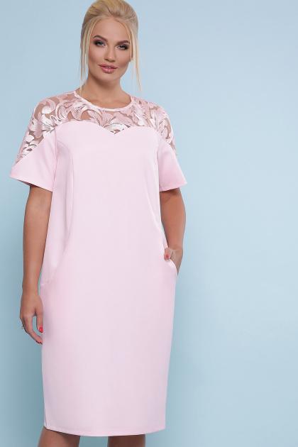 . платье Адель-Б к/р. Цвет: персик