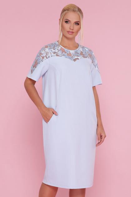 . платье Адель-Б к/р. Цвет: голубой