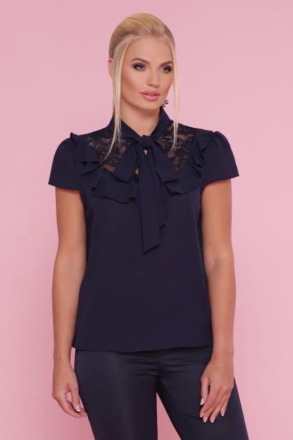 . блуза Федерика-Б к/р. Цвет: синий