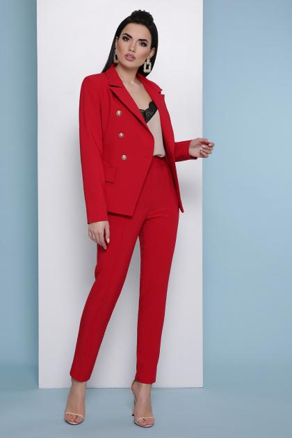 узкие красные брюки. брюки Бенжи 2. Цвет: красный
