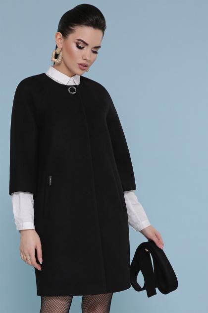 черное пальто с рукавом три четверти. Пальто П-355. Цвет: 161-черный