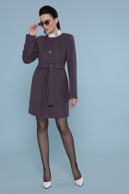 кашемировое пальто оливкового цвета. Пальто П-337-К. Цвет: сирень