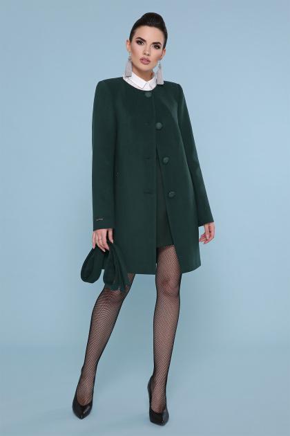 кашемировое пальто оливкового цвета. Пальто П-337-К. Цвет: 7473-изумруд