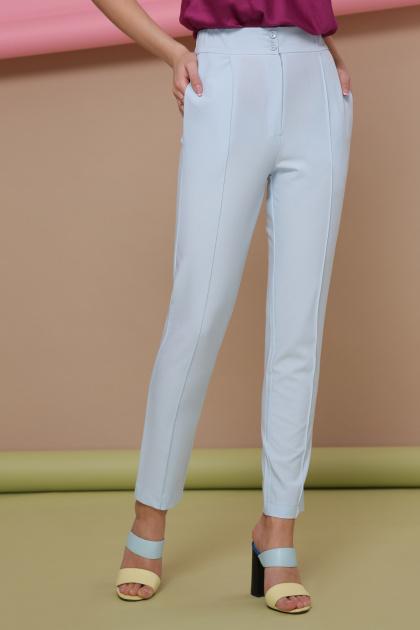 узкие красные брюки. брюки Бенжи 2. Цвет: голубой