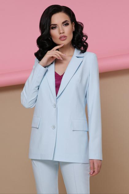 голубой женский пиджак. пиджак Патрик. Цвет: голубой