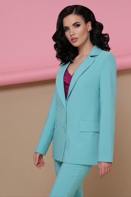 голубой женский пиджак. пиджак Патрик. Цвет: мята